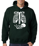"Happy Halloween skelton xray Men Hoodies-Hoodies-Gildan-Forest Green-S To Fit Chest 36-38"" (91-96cm)-Daataadirect"