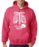 "Happy Halloween skelton xray Men Hoodies-Hoodies-Gildan-Heliconia-S To Fit Chest 36-38"" (91-96cm)-Daataadirect"