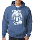 "Happy Halloween skelton xray Men Hoodies-Hoodies-Gildan-Indigo Blue-S To Fit Chest 36-38"" (91-96cm)-Daataadirect"