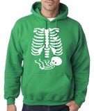 "Happy Halloween skelton xray Men Hoodies-Hoodies-Gildan-Irish Green-S To Fit Chest 36-38"" (91-96cm)-Daataadirect"