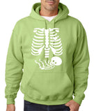 "Happy Halloween skelton xray Men Hoodies-Hoodies-Gildan-Kiwi-S To Fit Chest 36-38"" (91-96cm)-Daataadirect"