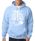 "Happy Halloween skelton xray Men Hoodies-Hoodies-Gildan-Light Blue-S To Fit Chest 36-38"" (91-96cm)-Daataadirect"