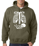 "Happy Halloween skelton xray Men Hoodies-Hoodies-Gildan-Military Green-S To Fit Chest 36-38"" (91-96cm)-Daataadirect"