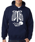 "Happy Halloween skelton xray Men Hoodies-Hoodies-Gildan-Navy Blue-S To Fit Chest 36-38"" (91-96cm)-Daataadirect"