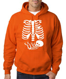 "Happy Halloween skelton xray Men Hoodies-Hoodies-Gildan-Orange-S To Fit Chest 36-38"" (91-96cm)-Daataadirect"