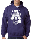 "Happy Halloween skelton xray Men Hoodies-Hoodies-Gildan-Purple-S To Fit Chest 36-38"" (91-96cm)-Daataadirect"