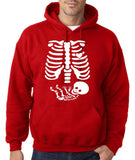 "Happy Halloween skelton xray Men Hoodies-Hoodies-Gildan-Red-S To Fit Chest 36-38"" (91-96cm)-Daataadirect"