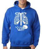 "Happy Halloween skelton xray Men Hoodies-Hoodies-Gildan-Royal Blue-S To Fit Chest 36-38"" (91-96cm)-Daataadirect"
