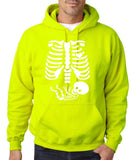 "Happy Halloween skelton xray Men Hoodies-Hoodies-Gildan-Safety Green-S To Fit Chest 36-38"" (91-96cm)-Daataadirect"