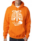 "Happy Halloween skelton xray Men Hoodies-Hoodies-Gildan-Safety Orange-S To Fit Chest 36-38"" (91-96cm)-Daataadirect"