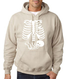 "Happy Halloween skelton xray Men Hoodies-Hoodies-Gildan-Sand-S To Fit Chest 36-38"" (91-96cm)-Daataadirect"