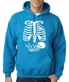 "Happy Halloween skelton xray Men Hoodies-Hoodies-Gildan-Sapphire-S To Fit Chest 36-38"" (91-96cm)-Daataadirect"