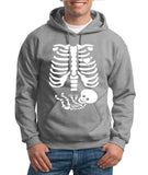 "Happy Halloween skelton xray Men Hoodies-Hoodies-Gildan-Sport Grey-S To Fit Chest 36-38"" (91-96cm)-Daataadirect"