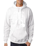 "Happy Halloween skelton xray Men Hoodies-Hoodies-Gildan-White-S To Fit Chest 36-38"" (91-96cm)-Daataadirect"