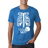 Happy Halloween Skelton xray Men T Shirts-Daataadirect