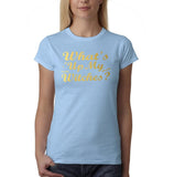 "Happy Halloween What's up my witches Womens T Shirts Gold-T Shirts-Gildan-Light Pink-S UK 10 Euro 34 Bust 32""-Daataadirect"