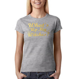 "Happy Halloween What's up my witches Womens T Shirts Gold-T Shirts-Gildan-Sport Grey-S UK 10 Euro 34 Bust 32""-Daataadirect"