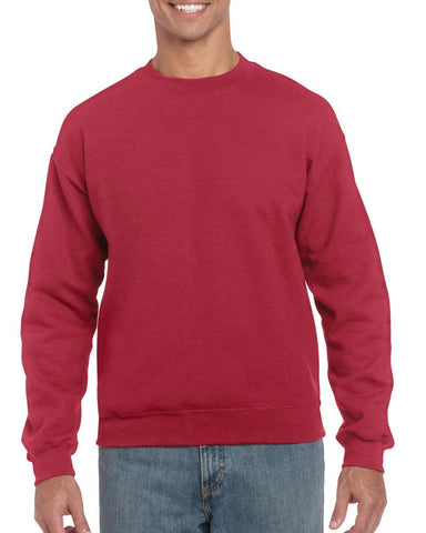 Heavy Blend Adult Crewneck Sweatshirt Gildan Mens Sweatshirts & Hoodies 18000-Hoodies-Gildan-Antique Cherry Red-S-Daataadirect