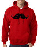 Heavy Mustache Mens Hoodies Black-Gildan-Daataadirect.co.uk