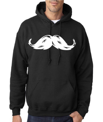 Heavy Mustache Mens Hoodies White-Daataadirect