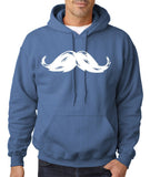 Heavy Mustache Mens Hoodies White-Gildan-Daataadirect.co.uk