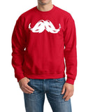 Heavy Mustache Mens SweatShirt White-Gildan-Daataadirect.co.uk