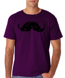 Heavy Mustache Mens T Shirt Black-Gildan-Daataadirect.co.uk