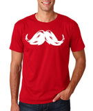 Heavy Mustache Mens T Shirt White-Daataadirect