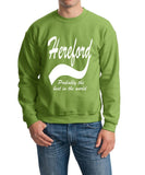 HEREFORD Probably The Best City In The World Mens SweatShirt White-Gildan-Daataadirect.co.uk
