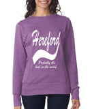 HEREFORD Probably The Best City In The World Womens SweatShirts White-ANVIL-Daataadirect.co.uk