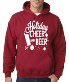 "Holiday Cheer And Beer Mens Hoodies White-Hoodies-Gildan-antique cherry-S To Fit Chest 36-38"" (91-96cm)-Daataadirect"