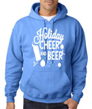 "Holiday Cheer And Beer Mens Hoodies White-Hoodies-Gildan-carolina blue-S To Fit Chest 36-38"" (91-96cm)-Daataadirect"