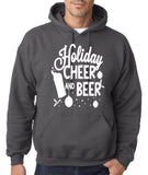 "Holiday Cheer And Beer Mens Hoodies White-Hoodies-Gildan-charcoal-S To Fit Chest 36-38"" (91-96cm)-Daataadirect"