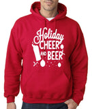 "Holiday Cheer And Beer Mens Hoodies White-Hoodies-Gildan-Cherry Red-S To Fit Chest 36-38"" (91-96cm)-Daataadirect"