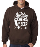 "Holiday Cheer And Beer Mens Hoodies White-Hoodies-Gildan-dark chocolate-S To Fit Chest 36-38"" (91-96cm)-Daataadirect"