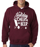 "Holiday Cheer And Beer Mens Hoodies White-Hoodies-Gildan-Garnet-S To Fit Chest 36-38"" (91-96cm)-Daataadirect"