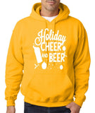 "Holiday Cheer And Beer Mens Hoodies White-Hoodies-Gildan-Gold-S To Fit Chest 36-38"" (91-96cm)-Daataadirect"