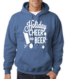 "Holiday Cheer And Beer Mens Hoodies White-Hoodies-Gildan-Indigo blue-S To Fit Chest 36-38"" (91-96cm)-Daataadirect"