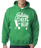 "Holiday Cheer And Beer Mens Hoodies White-Hoodies-Gildan-irish green-S To Fit Chest 36-38"" (91-96cm)-Daataadirect"