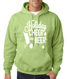 "Holiday Cheer And Beer Mens Hoodies White-Hoodies-Gildan-kiwi-S To Fit Chest 36-38"" (91-96cm)-Daataadirect"
