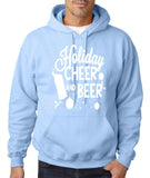 "Holiday Cheer And Beer Mens Hoodies White-Hoodies-Gildan-light blue-S To Fit Chest 36-38"" (91-96cm)-Daataadirect"