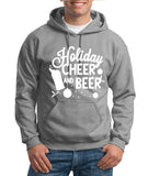 "Holiday Cheer And Beer Mens Hoodies White-Hoodies-Gildan-SportGrey-S To Fit Chest 36-38"" (91-96cm)-Daataadirect"