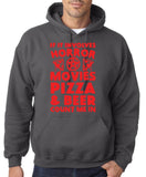 "HORROR MOVIES, PIZZA AND BEER COUNT ME IN Men Hoodie Red-Hoodies-Gildan-Charcoal-S To Fit Chest 36-38"" (91-96cm)-Daataadirect"