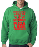 "HORROR MOVIES, PIZZA AND BEER COUNT ME IN Men Hoodie Red-Hoodies-Gildan-Irish Green-S To Fit Chest 36-38"" (91-96cm)-Daataadirect"