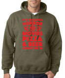 "HORROR MOVIES, PIZZA AND BEER COUNT ME IN Men Hoodie Red-Hoodies-Gildan-Military Green-S To Fit Chest 36-38"" (91-96cm)-Daataadirect"