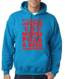 "HORROR MOVIES, PIZZA AND BEER COUNT ME IN Men Hoodie Red-Hoodies-Gildan-Sapphire-S To Fit Chest 36-38"" (91-96cm)-Daataadirect"