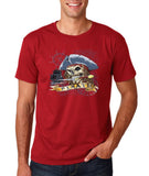 "I am Just a Pirate of Carribean Men T Shirt-T Shirts-Gildan-Cardinal-S To Fit Chest 36-38"" (91-96cm)-Daataadirect"
