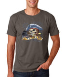 "I am Just a Pirate of Carribean Men T Shirt-T Shirts-Gildan-charcoal-S To Fit Chest 36-38"" (91-96cm)-Daataadirect"