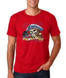 "I am Just a Pirate of Carribean Men T Shirt-T Shirts-Gildan-cherry red-S To Fit Chest 36-38"" (91-96cm)-Daataadirect"