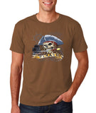 "I am Just a Pirate of Carribean Men T Shirt-T Shirts-Gildan-chesnut-S To Fit Chest 36-38"" (91-96cm)-Daataadirect"